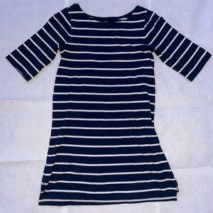 FADED GLORY striped cropped sleeve dress